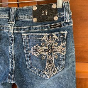 Miss Me Cross Pocket Bootcut Jeans